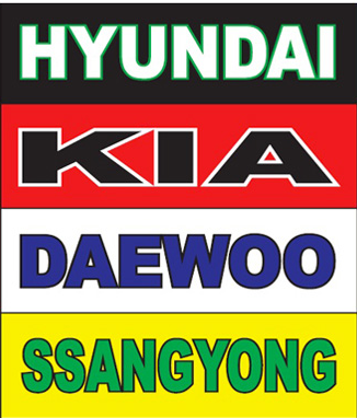Our brands include Hyundai, Kia, Daewoo and Ssangyong